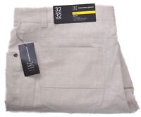 INC International Concepts Men's $59.50 Milan Khaki Linen Pants Choose Size