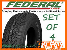 (SET OF4) 265 / 70 / R16 FEDERAL A/T ALL TERRAIN TYRE 4WD/SUV / AWESOME QUALITY