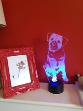 Border Terrier Acrylic LED Lamp Gift