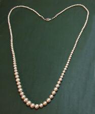 Lange antike KUNSTPERLENKETTE m. 585er Gold Diamant ~1920 • 72 cm • Perlenkette