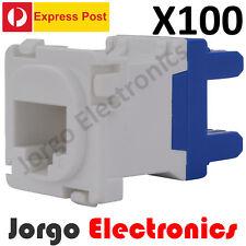 100 CLIPSAL COMPATIBLE CAT6 RJ45 Data Inserts Jacks X100 -EXPRESS POST-