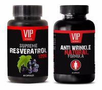 Anti-aging beauty set - RESVERATROL – ANTI WRINKLE COMBO - grape seed oil diet