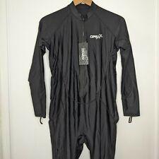 Men's Copozz dive skin size XL black front zipper long sleeve stretchy New