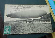 AK Le ballon dirigeable Belgica (Louis Godard) J. Hauser 1910 gelaufen
