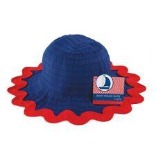 Mud Pie Baby Boathouse Ric Rac Ribbon Hat NWT 0-12 Months Baby Sunblocker