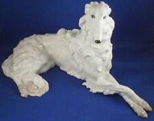 Original Period Augarten Porcelain Giant Borzoi Dog Figurine Figure Vienna Wien