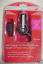 NEW! SANYO CAR CHARGER / MM9000, SCP-7050, KATANA DLX,