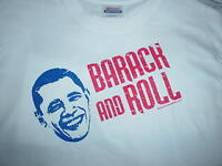 BARACK AND ROLL Obama T-SHIRT U.S.President, Political Support, NEW, LARGE