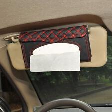 moteurs Visière Pare soleil Auto simili cuir Boite à mouchoir papier serviette