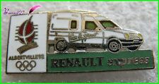 Pin's Jo Jeux Olympique Albertville 92 Voiture RENAULT EXPRESS Blanc #1955