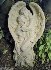 Gostatue latex w plastic backup angel w child mold concrete mold plaster mould