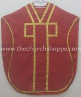 NEW Red Chasuble. St. Philip Neri Style vestment Stole & mass set 5 pc,Vestment