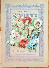 Victorian Diecut Scrap 1890s on Large 10x7 Chicoree Advertising - Flower Women