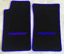 Autoteppich Fußmatten für Mazda MX 5 NA roadster schwarz blau 2teilig Neuware