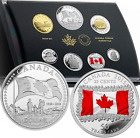 7-Coins Set Canada Flag 50th Anniv. 2015 Special Edition Silver Dollar Proof Set