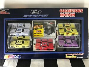 RC 1:64 NASCAR 1992 Collectors Edition 5 Car Set Ford Fastbacks Racing Heroes
