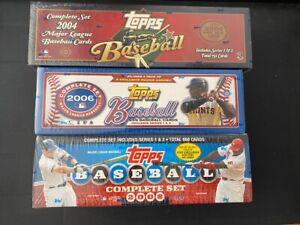 Lot of 3 Topps Baseball Sealed Factory Sets:  2004 - 2006 - 2008