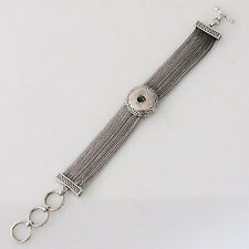 One Snap Toggle Bracelet For Snap-It Button Charms