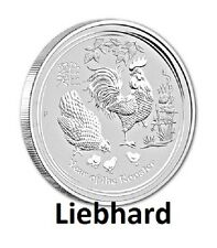 $2 plata/Silver australia lunar II Hahn/year of the Rooster 2017 2 Oz