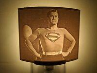 Superman George Reeves  Lithophane Incandescent Night Light