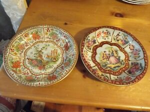 """VTG 1971 DAHER metal BOWLS 1971 Made in England 10.25"""" diameter VICTORIAN STYLE"""