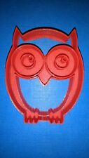 Owl Cookie Cutter (007) - 3D Printed - High Quality Red
