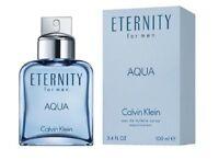 Eternity Aqua by Calvin Klein 3.3 / 3.4 oz EDT Cologne for Men New In Box