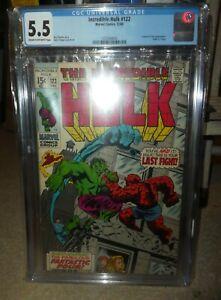 Marvel comics Hulk CGC 5.5 122 Fantastic four Battle Thing