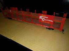 Vintage HO 85' Super Shock Control Dbl-Deck Santa Fe Trailer, Unbranded    m281