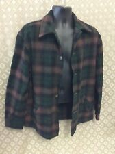 Bemidji Woolen Mills Shirt jacket Brown green black Plaid Pockets chore coat buy