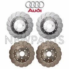 For Audi R8 Front & Rear Vented Drilled Steel Disc Brake Rotors Kit Genuine