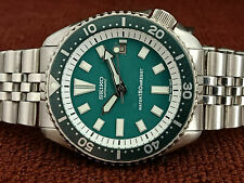 VINTAGE GREEN FACE MODDED SEIKO DIVER 7002-700A AUTOMATIC MEN'S WATCH SN 940458