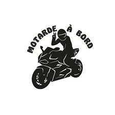 stickers motarde, bebe, a bord, motard