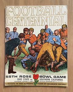 VINTAGE 1969 NCAA ROSE BOWL FOOTBALL PROGRAM OHIO STATE BUCKEYES vs USC TROJANS