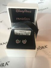 AUTHENTIC PANDORA 290580CZR Disney Minnie  silver stud earrings  cubic zirconia