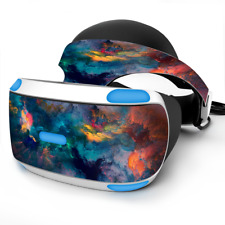 Skin Wrap for Sony Playstation PSVR Headset color storm watercolors