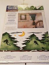 PLAID STENCIL DECOR #26767 LODGE FIR TREES - MULTI-LAYER BORDERS -NEW