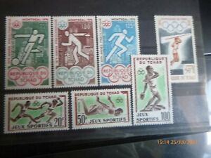 JEUX OLYMPIQUES. TCHAD. 7 timbres. Neufs**