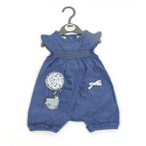 Baby Girls Denim Bunny Rabbit Bow Cotton Summer Romper Newborn 0 3 6 9 Months