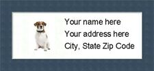 """Jack Russell Return Address Labels  - Personalized """"BUY 3 GET ONE FREE"""""""