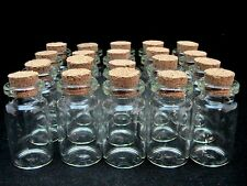 400 x Miniature Glass Bottles / Vials & Cork Stopper Decorative Storage Pendant