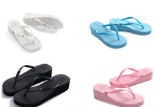 Women Wedge Thick Slippers Flip Flops Platform Thong Beach Summer Shoes