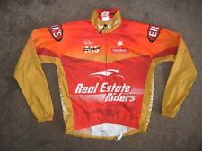 CHAMP SYS Red/Yellow Bright CYCLING JACKET Windbreaker Coat Size Women's LARGE