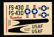 MODEL AIRFORCE DECALS 1/72 F-84F THUNDERSTREAK KIT #606