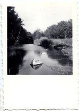 Paysage rivière forêt bord de l'eau - photo ancienne an. 1950
