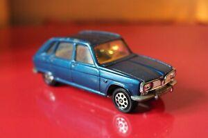 "Corgi Toys 4"" RENAULT 16 ""TS"" Diecast Car Dark BLUE Vintage Whizzwheels"