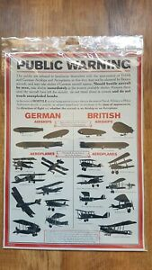 WW1 Public Warning of Aircraft Poster