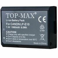 1/2/3/4/5/6/10x Digital CameraDSLR Battery Canon EOS 1100D LP-E10 LPE10 1080mah