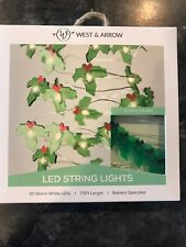 Warm Hollies Led String Lights Green - West & Arrow