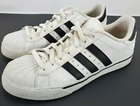 Adidas Neo Label White Leather Black Stripes Mens Size 9 Sneakers Athletic Shoes